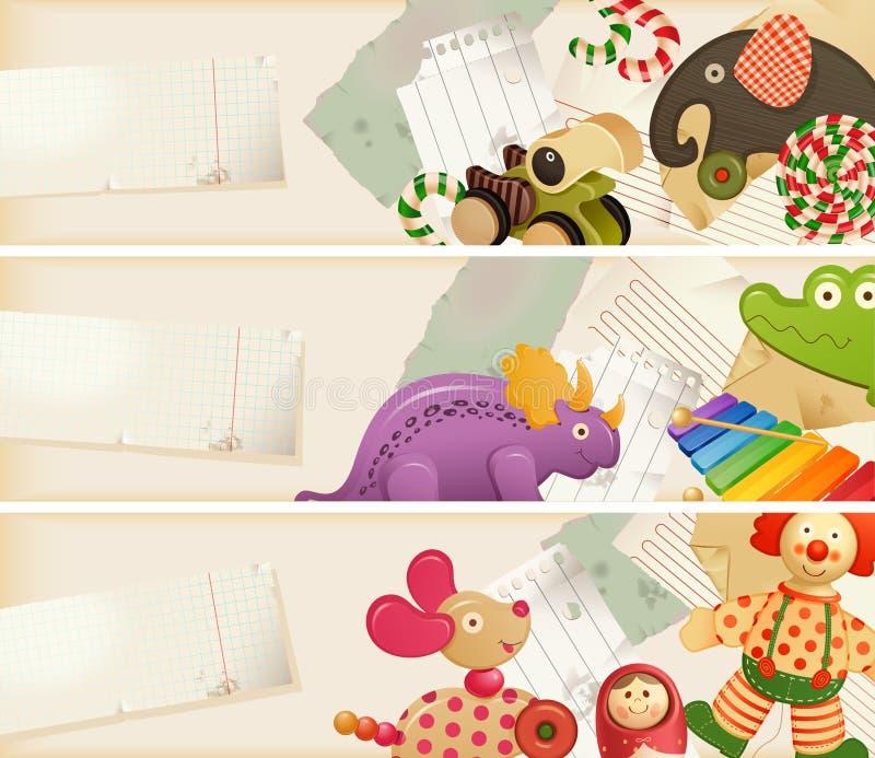 Giocattoli, caramella & memorie di infanzia illustrazione di stock
