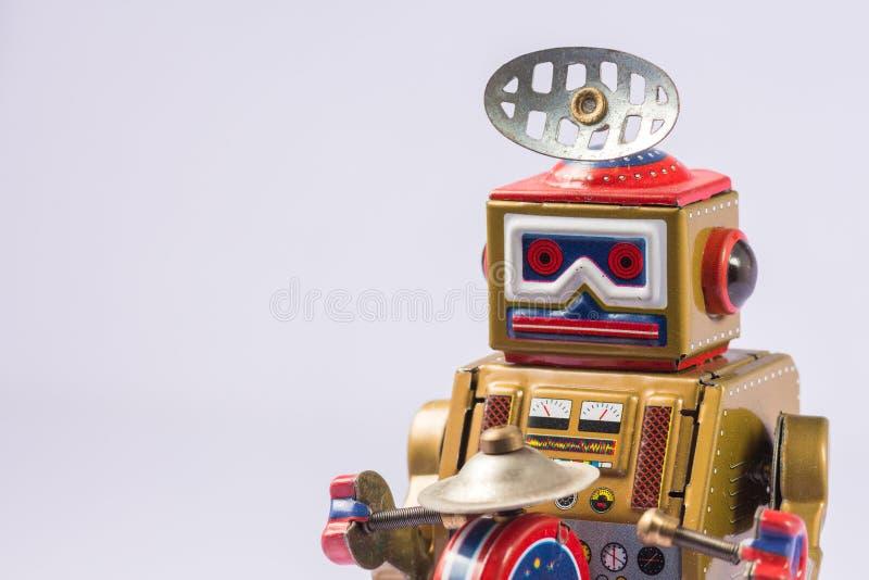 Giocattoli classici del robot fotografie stock