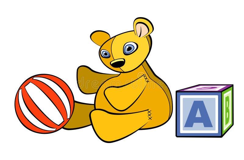 Download Giocattoli del bambino illustrazione vettoriale. Illustrazione di teddy - 3146156