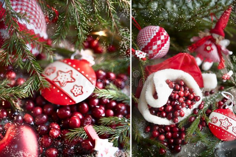 Giocattoli del nuovo anno, mirtilli rossi fotografie stock libere da diritti