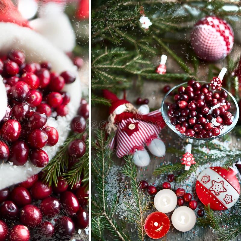 Giocattoli del ` s del nuovo anno, mirtilli rossi immagini stock libere da diritti