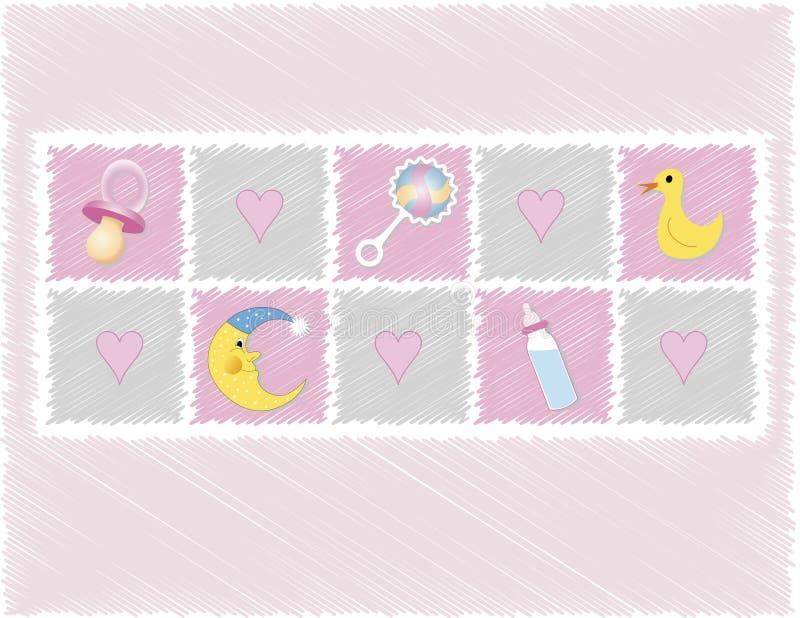 Giocattoli della neonata royalty illustrazione gratis