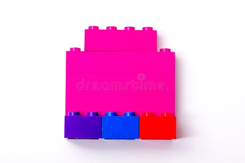Giocattoli di Lego fotografia stock