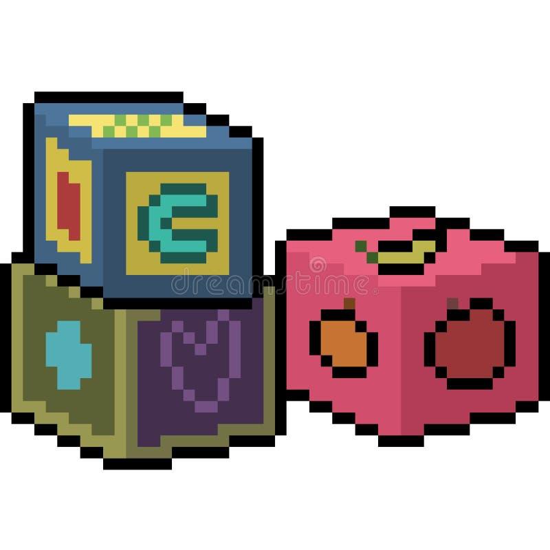 Giocattolo dei dadi di arte del pixel di vettore illustrazione vettoriale