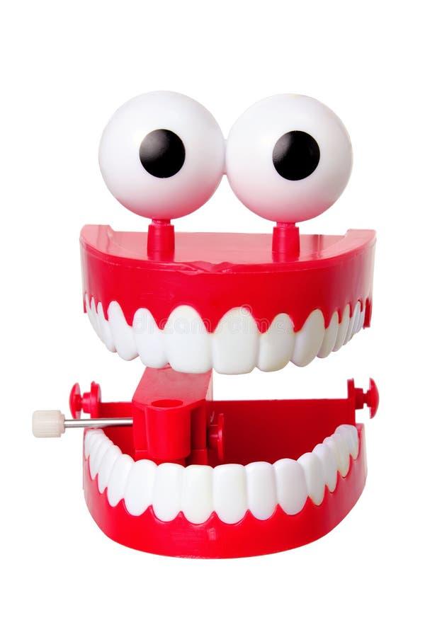 Giocattolo dei denti di schiamazzo immagine stock