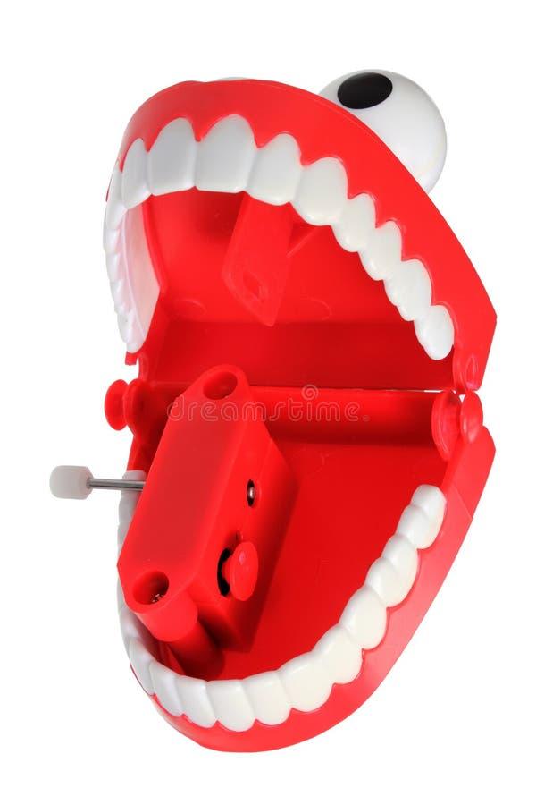 Giocattolo dei denti di schiamazzo immagini stock libere da diritti