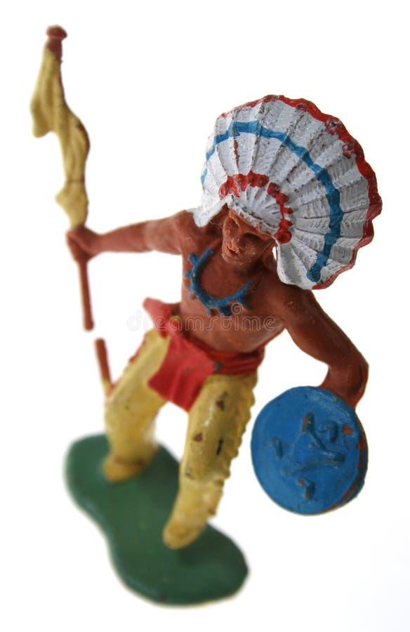 Giocattolo del capo indiano dell'nativo americano immagini stock