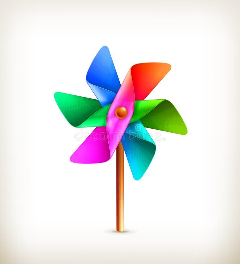 Giocattolo del Pinwheel multicolore illustrazione di stock
