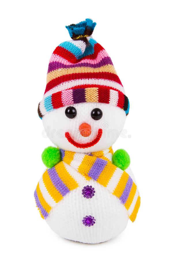 Giocattolo del pupazzo di neve fotografie stock