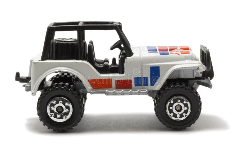 Giocattolo dell'automobile della jeep immagine stock