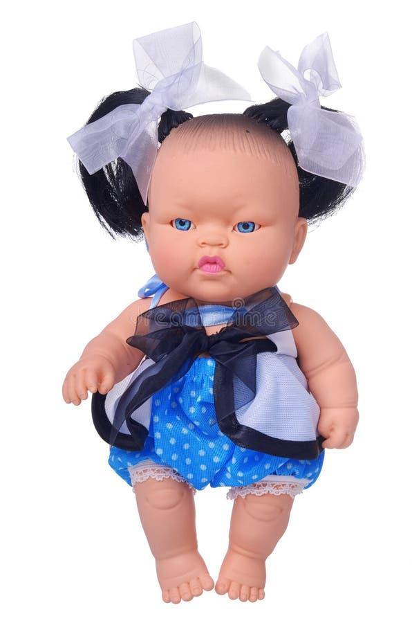 Giocattolo della bambola della neonata dell'Asia fotografia stock