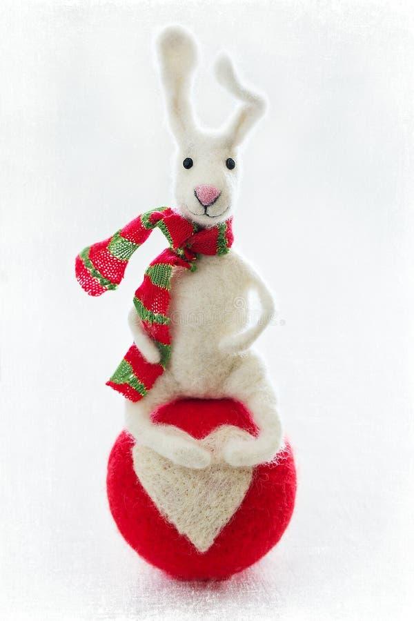 Giocattolo della lana di Felted fotografie stock libere da diritti