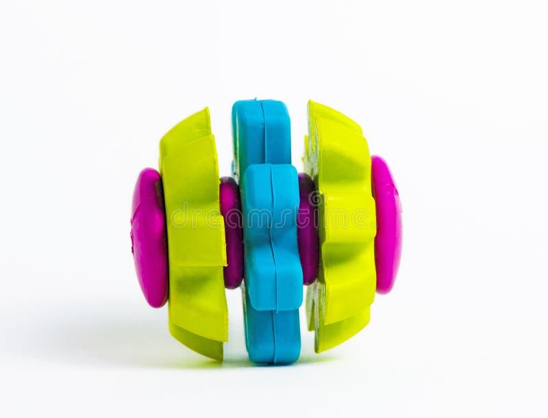 Giocattolo di gomma colorato vivo isolato fotografie stock libere da diritti