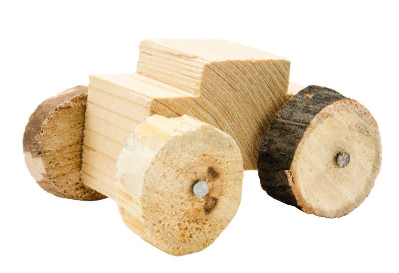 Giocattolo di legno casalingo dell'automobile fotografia stock