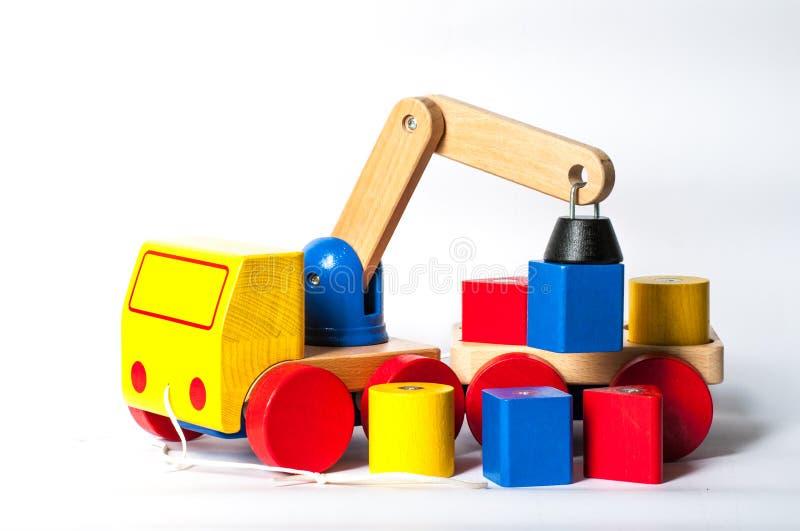 Giocattolo di legno del camion fotografia stock