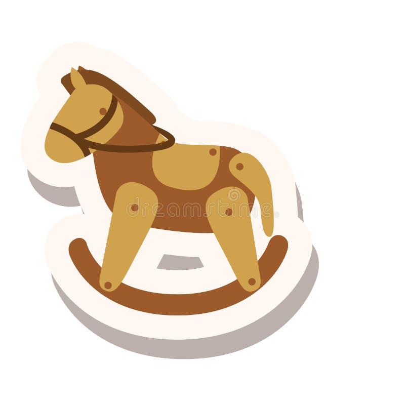 Giocattolo di legno del cavallo royalty illustrazione gratis