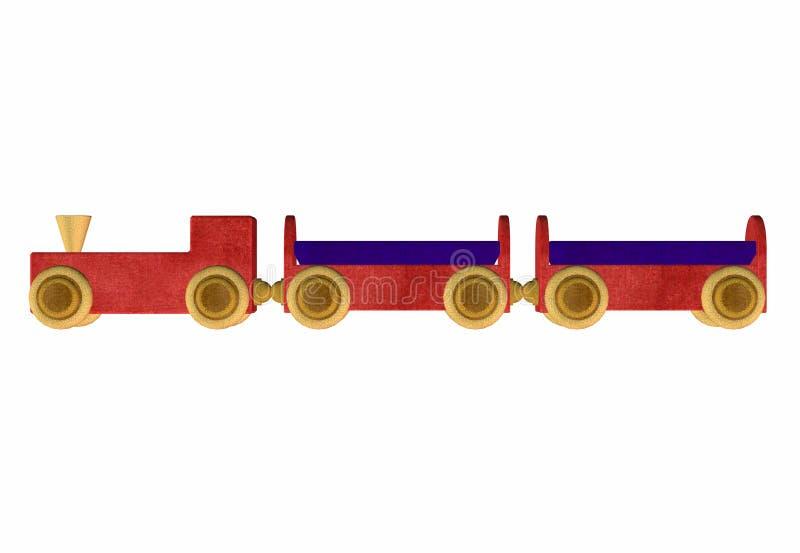 Giocattolo di legno del treno. 2 royalty illustrazione gratis