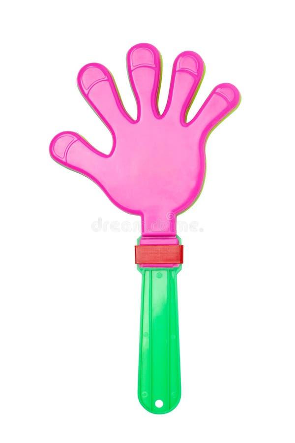 giocattolo di plastica di applauso della mano immagini stock