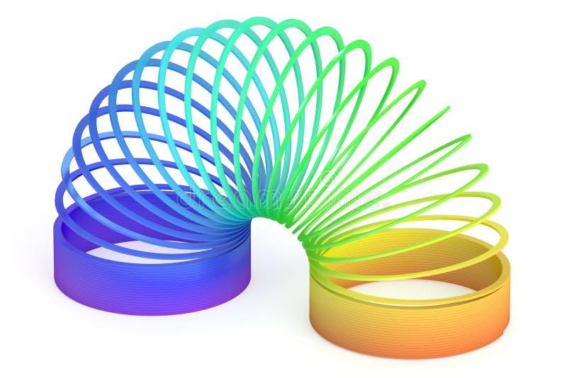 Giocattolo di plastica colorato arcobaleno, rappresentazione 3D illustrazione vettoriale