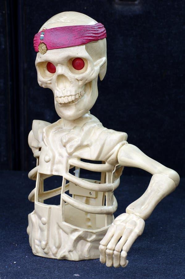 giocattolo di scheletro della figurina fotografia stock