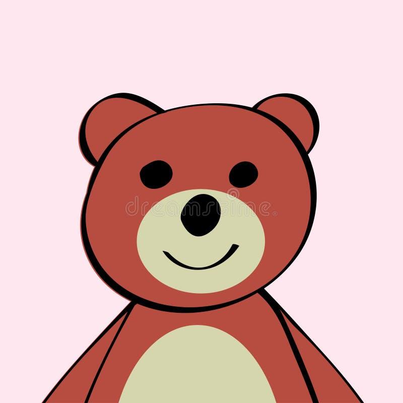 Giocattolo divertente dell'animale del fumetto dell'orso royalty illustrazione gratis