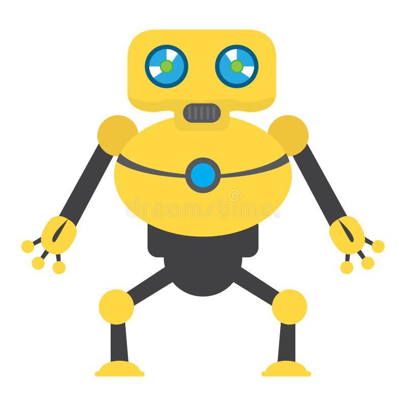 Giocattolo isolato del robot - vettore