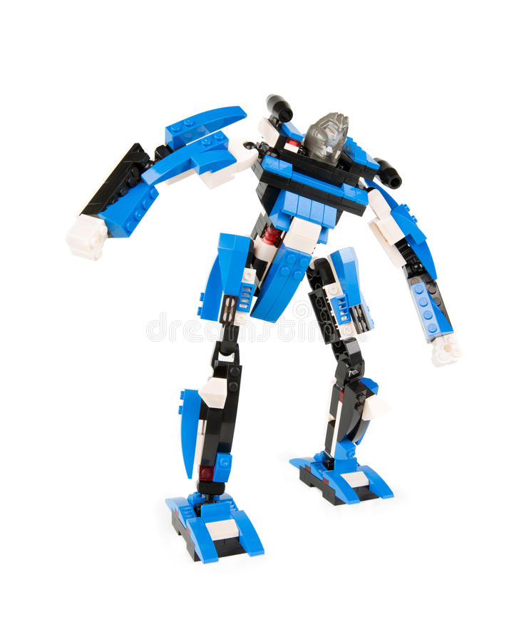 Giocattolo per i ragazzi - trasformatore del robot del costruttore immagini stock