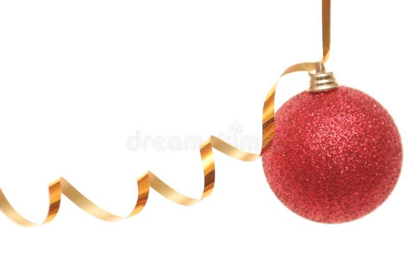 Giocattolo rosso del nuovo anno immagini stock