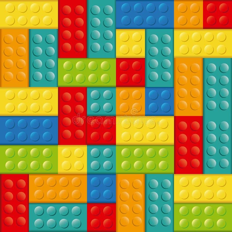 giocattolo variopinto dell'icona di lego dei mattoni del giocattolo della costruzione illustrazione di stock
