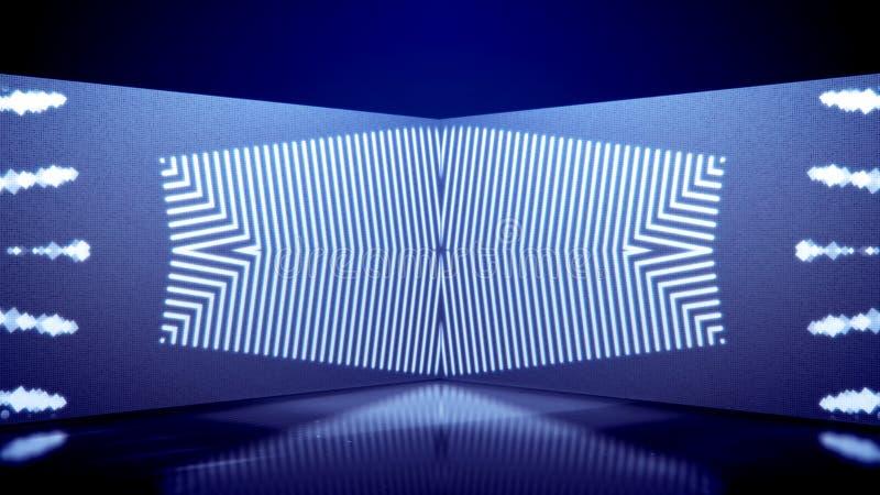 Giochi del tubo al neon dei giri caleidoscopici illustrazione vettoriale