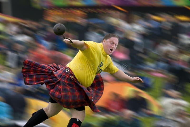 Giochi dell'altopiano - Scozia fotografia stock libera da diritti