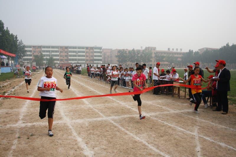 Giochi dell'atletica leggera dell'allievo fotografia stock
