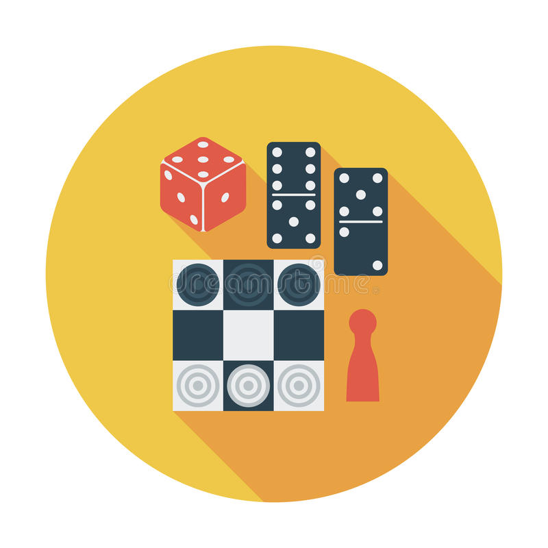 Giochi della Tabella illustrazione di stock
