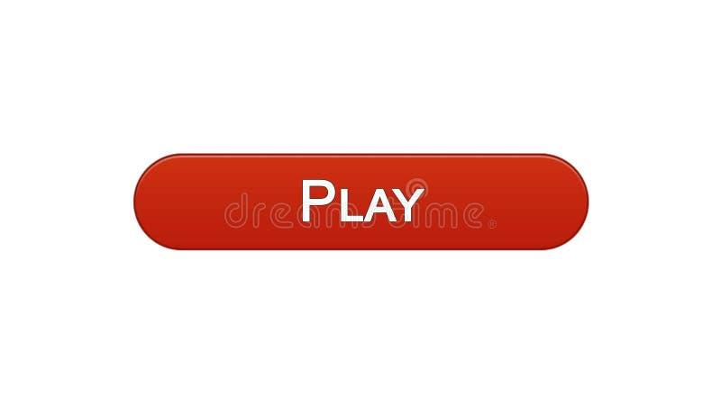 Giochi il colore rosso del vino del bottone dell'interfaccia di web, l'applicazione del gioco online, video programma royalty illustrazione gratis