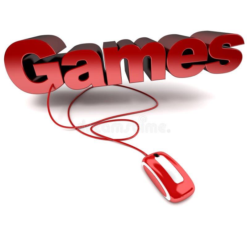 Giochi in linea illustrazione vettoriale