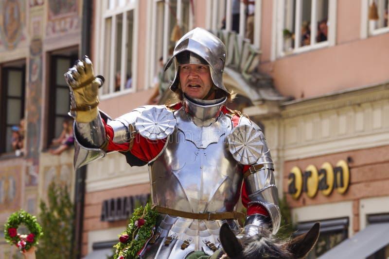 Giochi medievali le nozze di Landshut fotografia stock libera da diritti