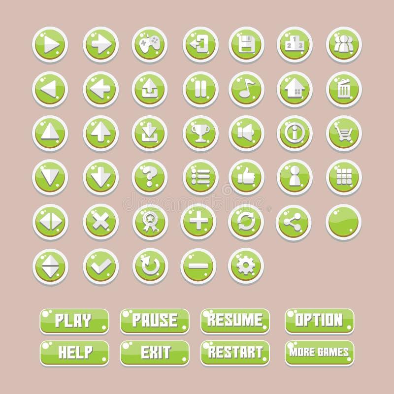 Giochi UI del bottone royalty illustrazione gratis