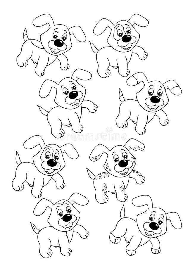 Gioco 36, soltanto due cani uguali royalty illustrazione gratis