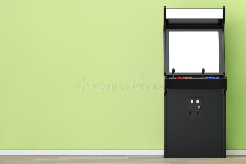 Gioco Arcade Machine con lo schermo in bianco per la vostra progettazione 3d si strappano royalty illustrazione gratis