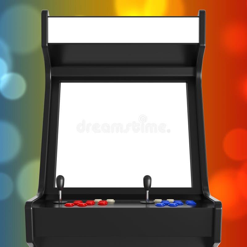 Gioco Arcade Machine con lo schermo in bianco per la vostra progettazione 3d si strappano illustrazione vettoriale
