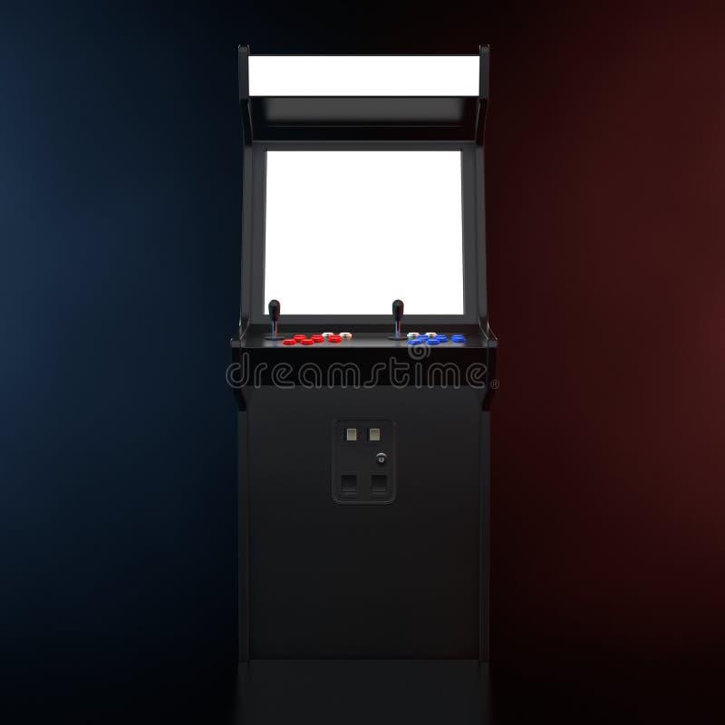 Gioco Arcade Machine con lo schermo in bianco per la vostra progettazione nella C illustrazione di stock