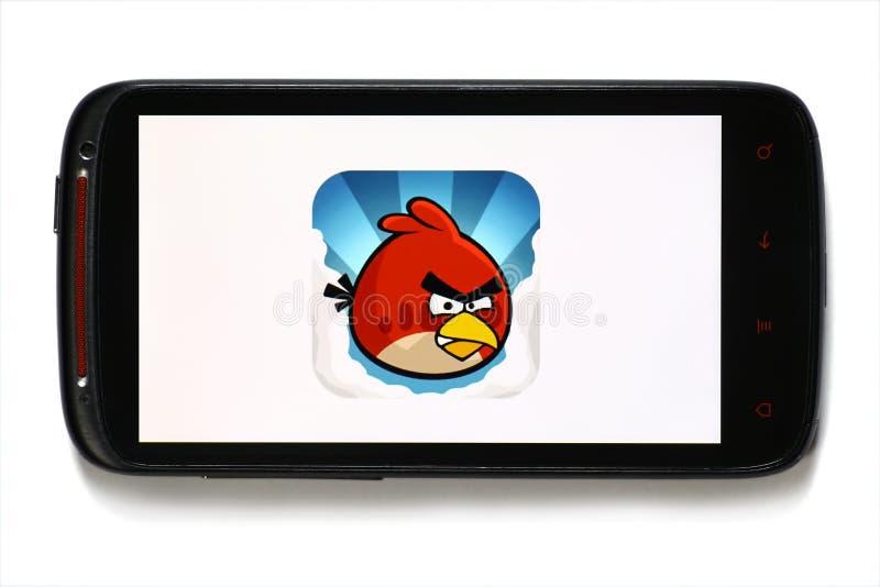 Gioco arrabbiato del mobile degli uccelli immagine stock libera da diritti