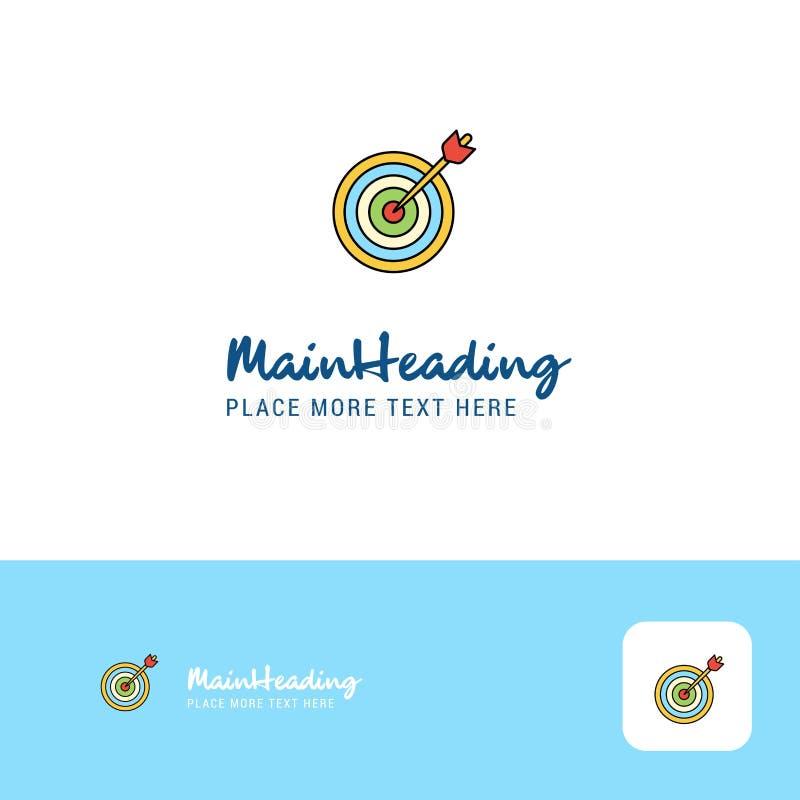 Gioco creativo Logo Design del dardo Posto piano di logo di colore per il Tagline Illustrazione di vettore illustrazione vettoriale