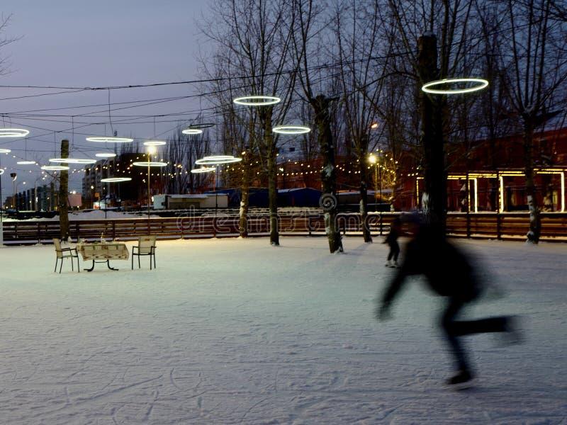 Gioco d'inverno In pista fotografia stock