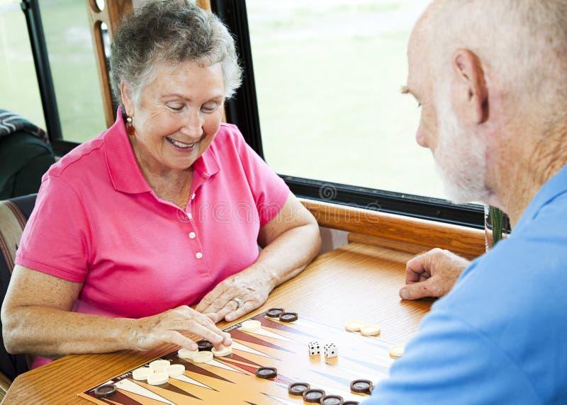 Gioco da tavolo del gioco degli anziani di rv immagine stock