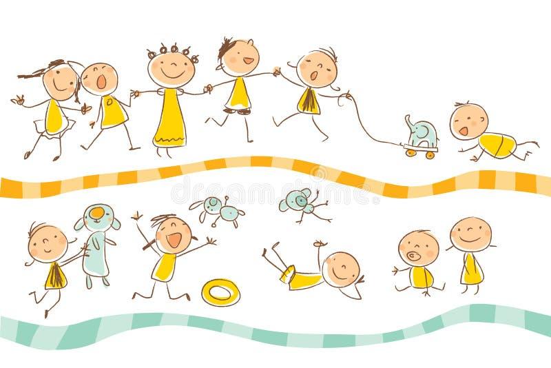 Gioco dei bambini illustrazione vettoriale