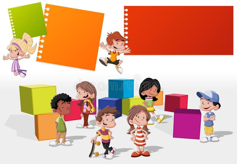 Gioco dei bambini del fumetto illustrazione di stock