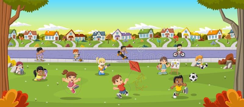 Gioco dei bambini del fumetto Sport e giocattoli royalty illustrazione gratis