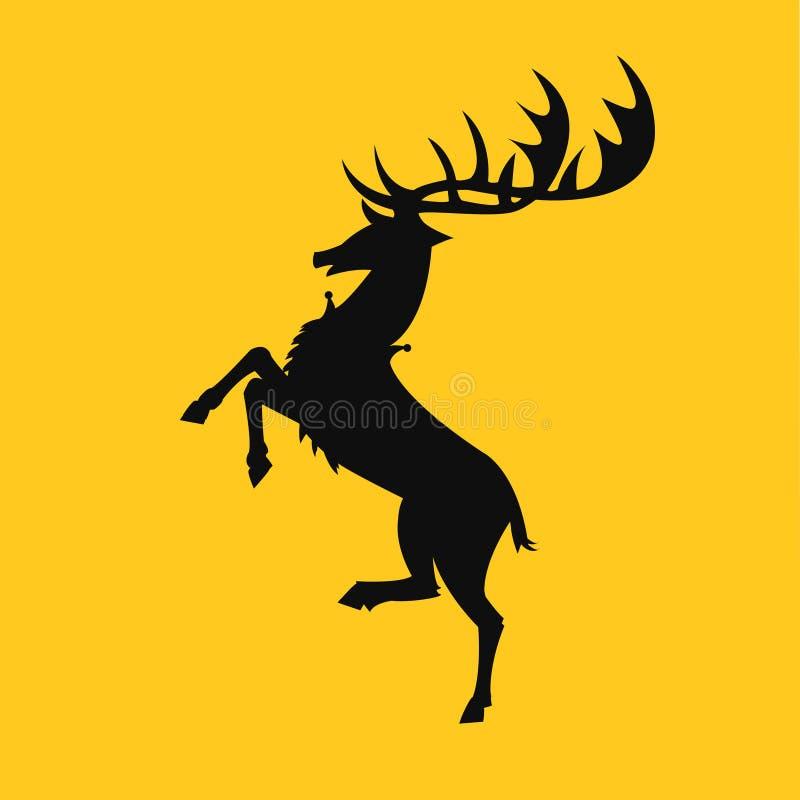 Gioco del baratheon della casa dell'icona di vettore dei troni immagini stock libere da diritti