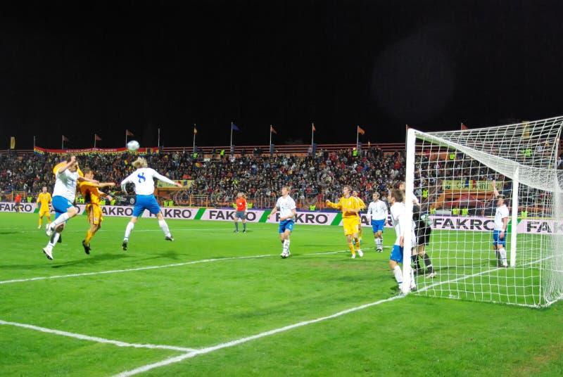 Gioco del calcio fotografia stock libera da diritti